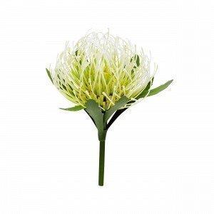 Hemtex Protea Flower Muovikukka Kermanvalkoinen