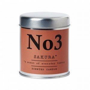Hemtex Sakura Scented Candle In Box Tuoksukynttilä Englanninpunainen 7x7 Cm