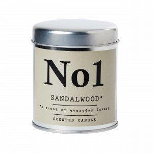 Hemtex Sandalwood Tuoksukynttilä Luonnonvalkoinen 7x7 Cm