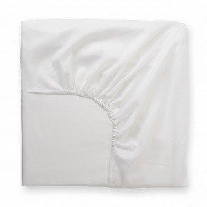 Hemtex Soft Satin Fitted Sheet Muotoonommeltu Lakana Valkoinen 120x200 Cm