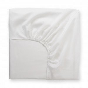 Hemtex Soft Satin Fitted Sheet Muotoonommeltu Lakana Valkoinen 140x200 Cm