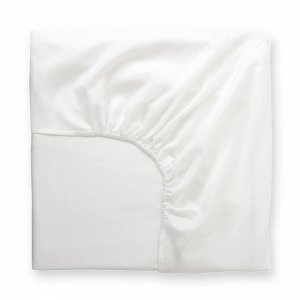 Hemtex Soft Satin Fitted Sheet Muotoonommeltu Lakana Valkoinen 180x200 Cm