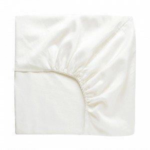 Hemtex Soft Satin Fitted Sheet Muotoonommeltu Lakana Valkoinen 210x200 Cm