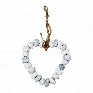 Hemtex Stones Heart Decoration Hjärta I Sten Koriste Monivärivalkoinen 18x29 Cm