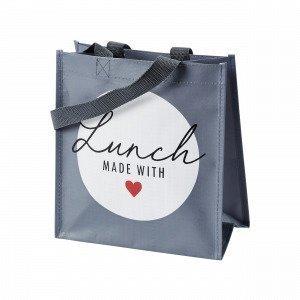 Hemtex With Love Lunch Bag Eväslaukku Harmaa 13x24 Cm