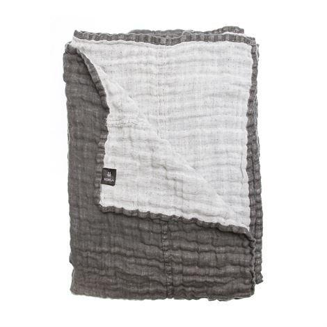 Himla Hannelin Päiväpeite Charcoal Harmaa 160x260 cm