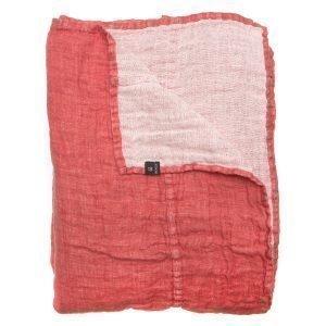 Himla Hannelin Päiväpeitto Rouge / White 160x260 Cm
