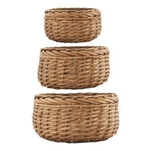 House Doctor Baskets Korit Small 3 Set Luonnonvärinen