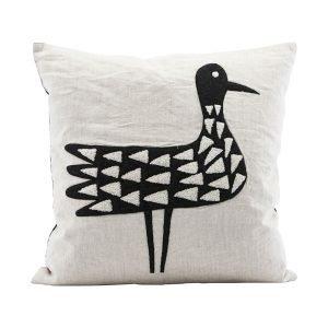 House Doctor Bird Tyynynpäällinen Valkea / Musta 50x50 Cm