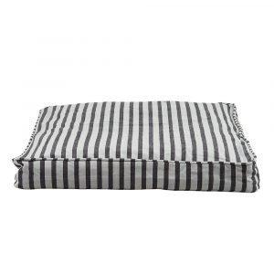 House Doctor Box Tyynynpäällinen Musta / Harmaa 55x55x6 Cm