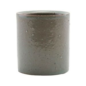 House Doctor Clay Flower Pot Grey / Green 12 Cm