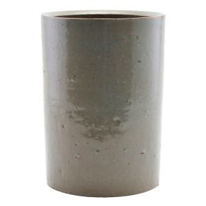 House Doctor Clay Flower Pot Grey / Green 14 Cm