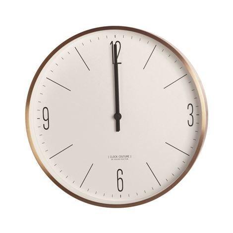 House Doctor Clock Couture Seinäkello Ruusukulta-Valkoinen