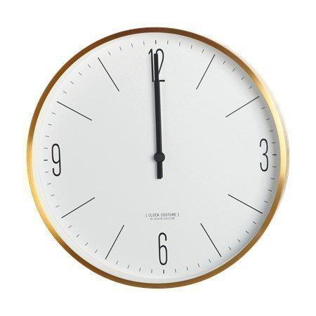 House Doctor Couture seinäkello valkoinen/kulta 30 cm
