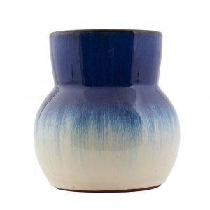 House Doctor Flower Maljakko Sininen / Valkoinen 15 Cm