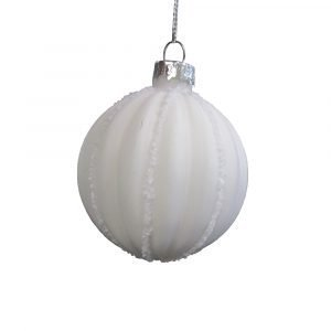 House Doctor Frost Ornament Harmaa / Valkoinen 6 Cm