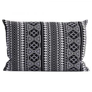 House Doctor Indi Tyynynpäällinen Musta / Valkoinen 40x60 Cm