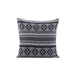 House Doctor Indi-tyynyliina musta-valkoinen 50 x 50 cm