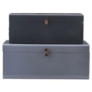 House Doctor Metal Säilytyslaatikot 2 Pack Sininen / Vihreä