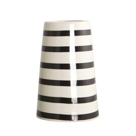 House Doctor Sailor Stripes Maljakko Musta-Valkoinen