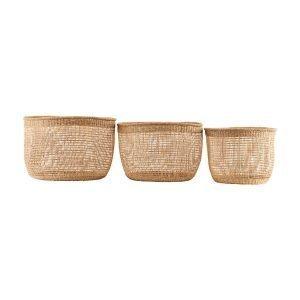 House Doctor Shape Baskets Korit 3 Set L Luonnonvärinen