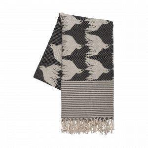 House Of Rym Birdie Namnam Blanket Viltti Musta 100x200 Cm