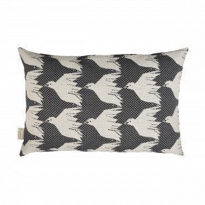 House Of Rym Birdie Namnam Cushion Koristetyyny Musta 40x60 Cm