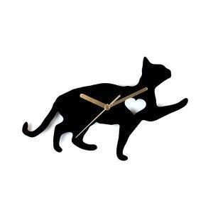 Hurmaava Kissa Sydämellä Seinäkello