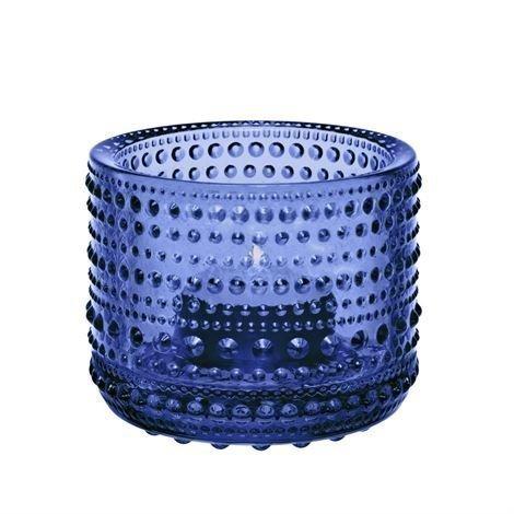 Iittala Kastehelmi Kynttilälyhty 64 mm Ultramariini Sininen