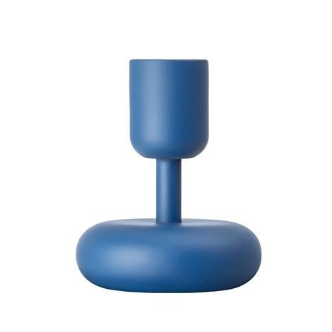 Iittala Nappula Kynttilänjalka Tummansininen Pieni 107 mm