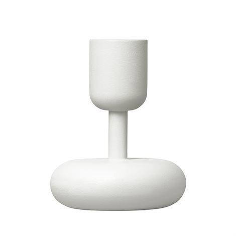 Iittala Nappula Kynttilänjalka Valkoinen Pieni 107 mm