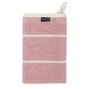 Jokipiin Pellava Liituraita-pesukinnas vaaleanpunainen