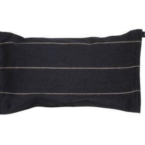 Jokipiin Pellava Liituraita-tyyny musta