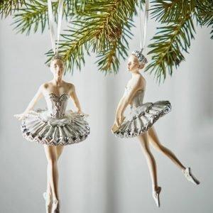 Jotex Ballroom Joulukuusenkoristeet 2 Kpl Valkoinen