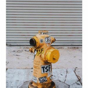 Jotex Fire Post Juliste Keltainen 50x70 Cm