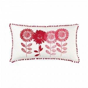 Jotex Flower Patch Tyynynpäällinen Punainen 70x40 Cm