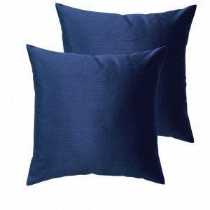 Jotex Grace Tyynynpäälliset Sininen 43x43 Cm 2-Pakkaus