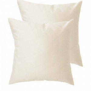 Jotex Grace Tyynynpäälliset Valkoinen 43x43 Cm 2-Pakkaus