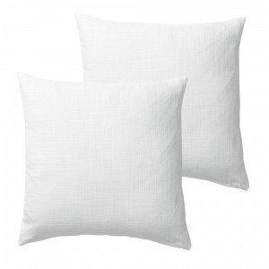 Jotex Hilda Tyynynpäälliset Valkoinen 45x45 Cm 2-Pakkaus