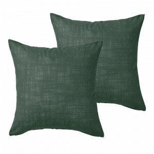 Jotex Hilda Tyynynpäälliset Vihreä 45x45 Cm 2-Pakkaus