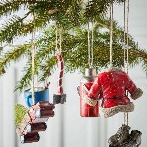 Jotex Holiday Joulukuusenkoristeet Monivärinen 6-Pakkaus