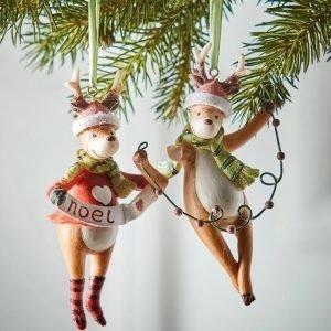 Jotex Jolly Joulukuusenkoristeet 2 Kpl Monivärinen