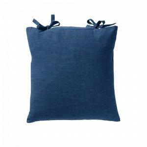 Jotex Kursiv Tyynynpäällinen Solmimisnauhat Sininen 45x45 Cm
