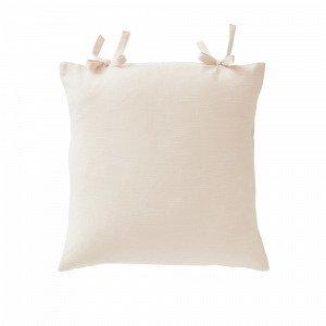 Jotex Kursiv Tyynynpäällinen Solmimisnauhat Valkoinen 45x45 Cm