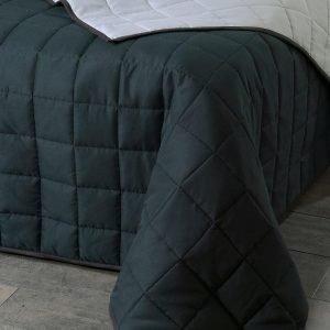 Jotex Matilda Päiväpeite Kapeaan Sänkyyn Musta 180x260 Cm