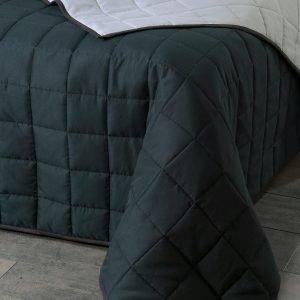 Jotex Matilda Päiväpeite Parisänkyyn Musta 260x260 Cm