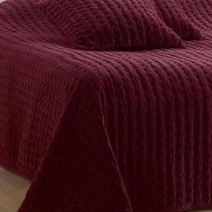 Jotex Samette Päiväpeite Parisänkyyn Punainen 250x260 Cm