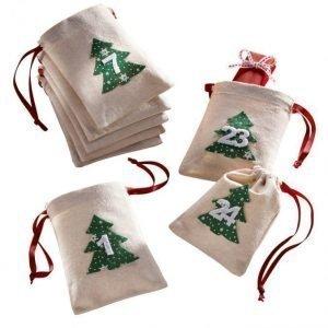 Joulukalenteri Luonnonvaalea / Vihreä