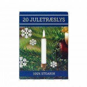Joulukuusen Kynttilä 20 Kpl Valkoinen