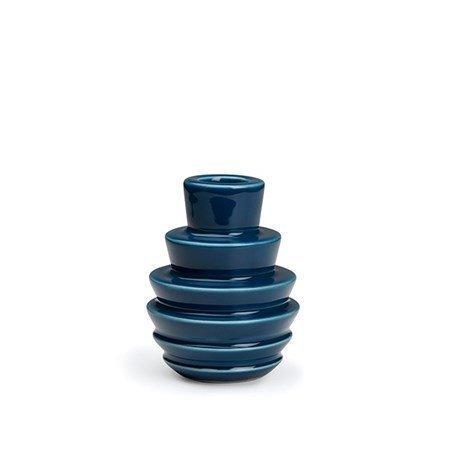 Kähler Cono kynttilänjalka sininen 9 cm